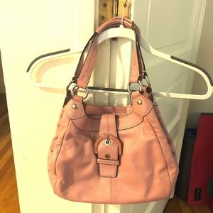 Pale Pink Buttery Soft Leather Coach Purse